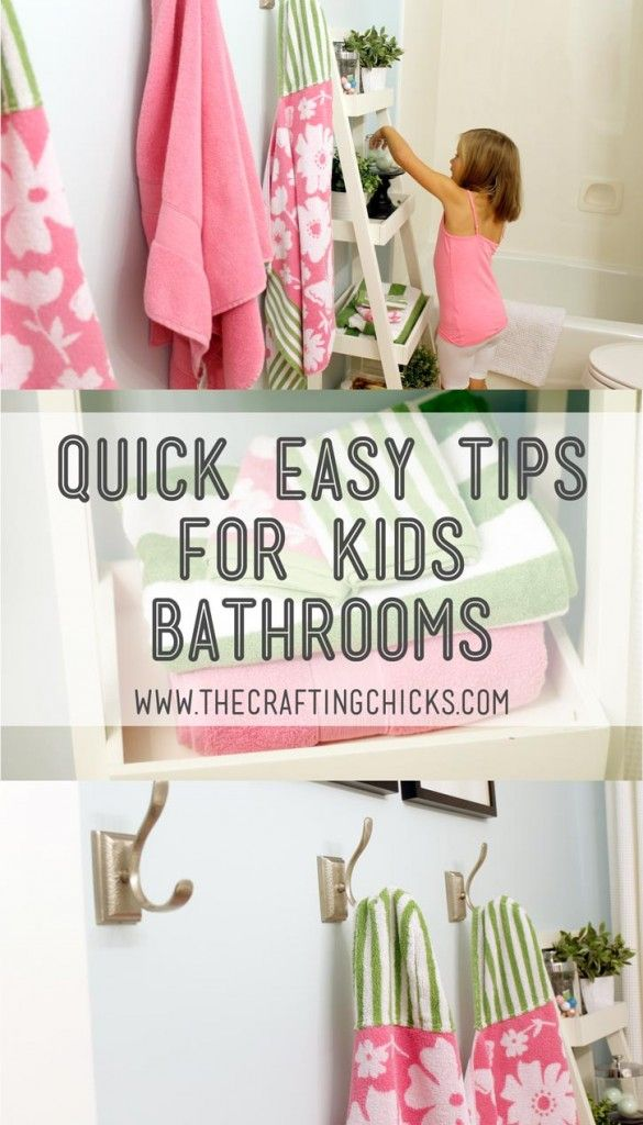 Quick Easy Tips for Kids Bathrooms (Diy Organization For Kids)