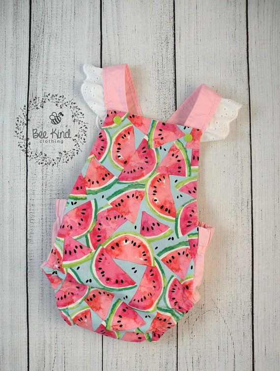 Watermelon Baby Romper girl romper baby outfit toddler