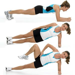 Curves Ahead: Toning Your Hourglass Figure  Get your hourglass figure in traffic-stopping shape    Side Plank with Moving Knee