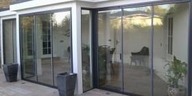 ultra slim frame retractable slide and pivot doors from Sunseeker doors & 22 best UltraSlim glass doors images on Pinterest | Glass doors ...