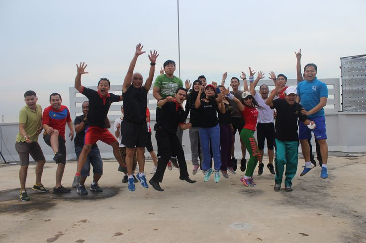 This morning our employee here at Nagoya Mansion Hotel & Residence come and join aerobic session at the rooftop, because we know that physical fitness is not only one of the most important keys to a healthy body it is the basis of dynamic and creative intellectual activity.