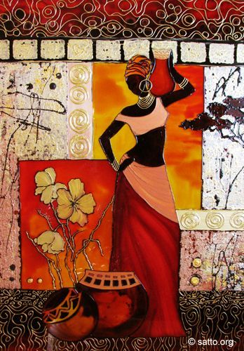 Стъклопис Африка1, 50х70см -repinned by http://LinusGallery.com #art #artists #contemporaryart:
