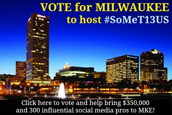 Vote and share to help bring a national social media tourism convention to Milwaukee! http://woobox.com/scr8dp