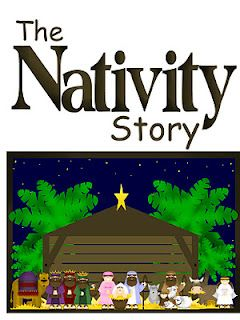 The Nativity Story: She has all the parts written out -- and fun pictures to turn into magnets or felt board pieces