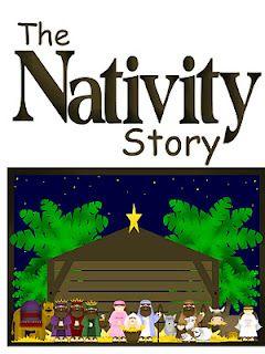FHE Christmas story with printables.