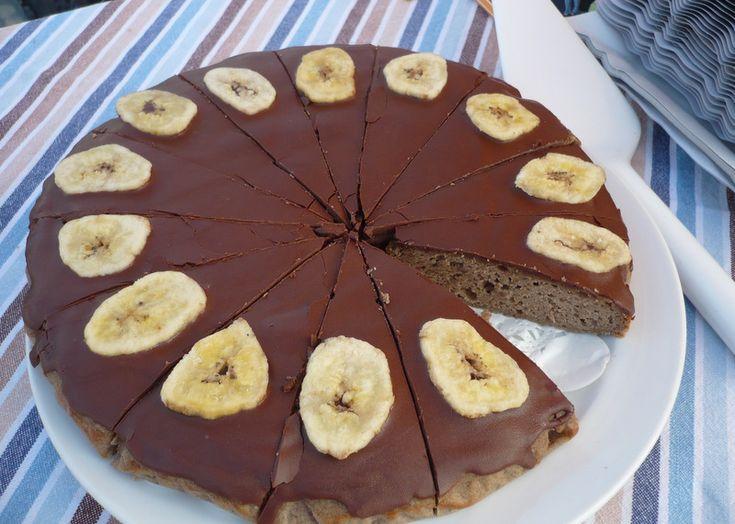 Bezlepkový banánový dort