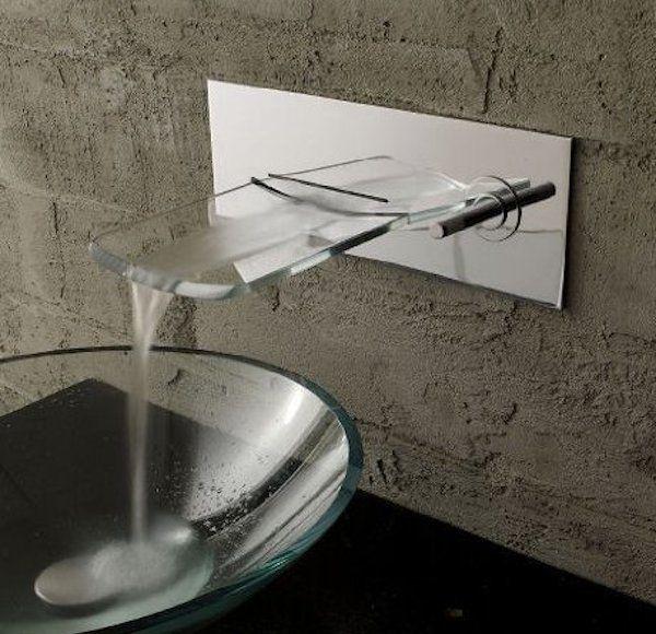 VDOMUS Single Handle Waterfall Sink Faucet – $59