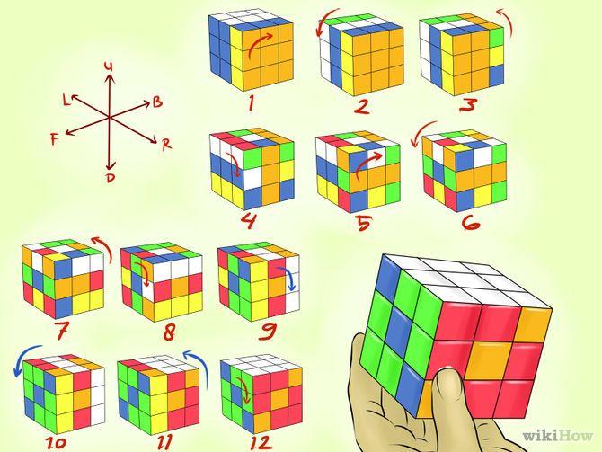 7 Formas De Hacer Patrones Con El Cubo De Rubik Wikihow Rubiks Cube Patterns Cube Pattern Rubiks Cube
