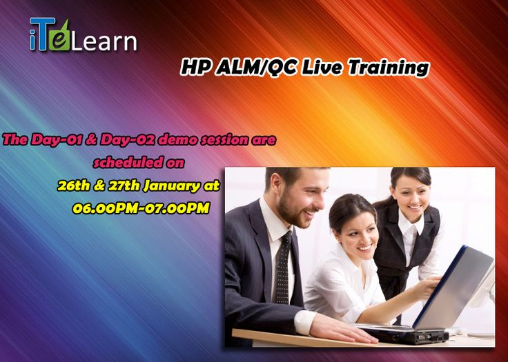 "A Chance to connect with experts in online live interactive Demo sessions on ""HP ALM/QC"", scheduled at Jan 26th & Jan 27th @ 06.00PM-07.00PM PST. These sessions are going to reveal the most important concepts and best methods in HP, which will make you, stand in the current job market. So don't miss it! For further details, check http://www.itelearn.com/events/hp-alm-qc/"