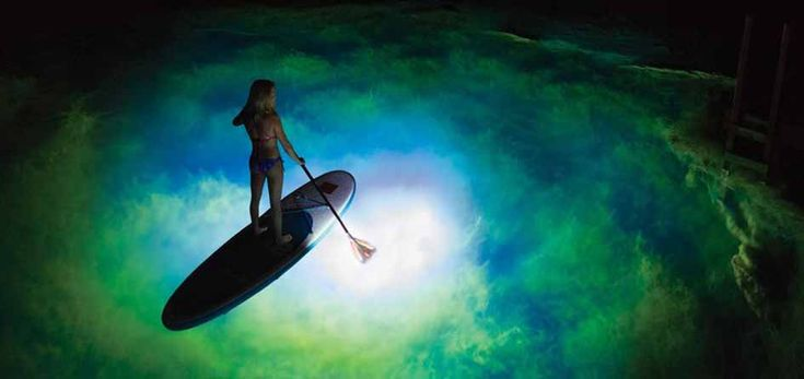 Go for a nightpaddle on a SUP / Paddleboard on St. John, USVI with one of our LED paddles. They create 720 Lumens of light, it is a totally amazing experience to Stand Up Paddleboard at night!
