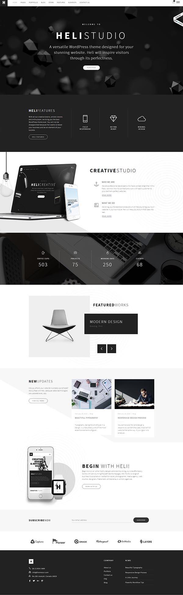 Heli – Creative Multi-Purpose WordPress Theme