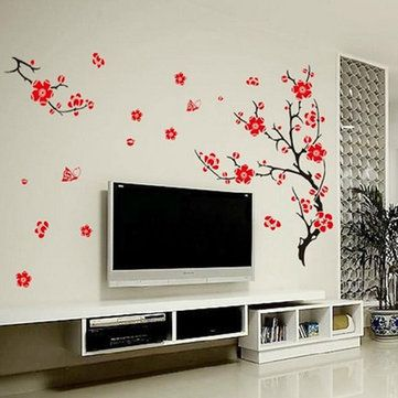 Red Blossom Flowers Tree Removable Wall Stickers //Price: $7.98 & FREE Shipping //     #wallstickerforbedroom #wallstickerforlivingroom #wallstickerforkids #wallstickerforkitchen #3Dwallsticker #removeablewallsticker #treewallsticker ##3wallstickers#3dbutterflywallstickers #3dmirrorwallstickers #3dwallsticker #3dwallstickermalaysia #3dwallstickers #3dwallstickersamazon #3dwallstickersaustralia #3dwallstickersbeach #3dwallstickersebay #3dwallstickerspakistan #3dwallstickerssnapdeal…