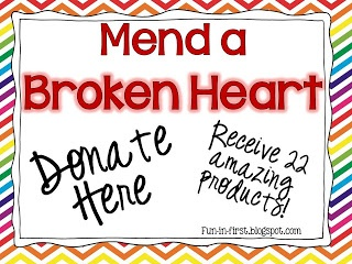 Fundraiser for a 2nd grader needing a heart transplant.  Will you help?  Donate and receive 22 amazing Teachers Pay Teachers products by some of the best sellers on TpT!