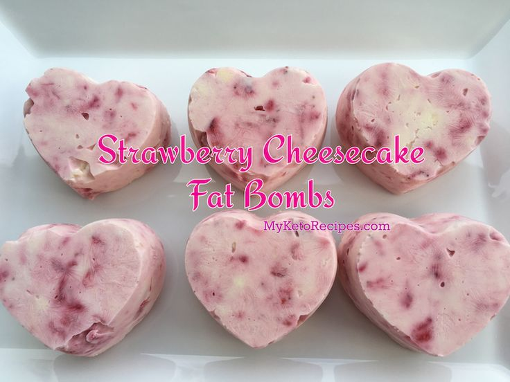 Strawberry cheesecake keto style! These delicious fat bombs are sure to have to enjoying your next keto approved snack!