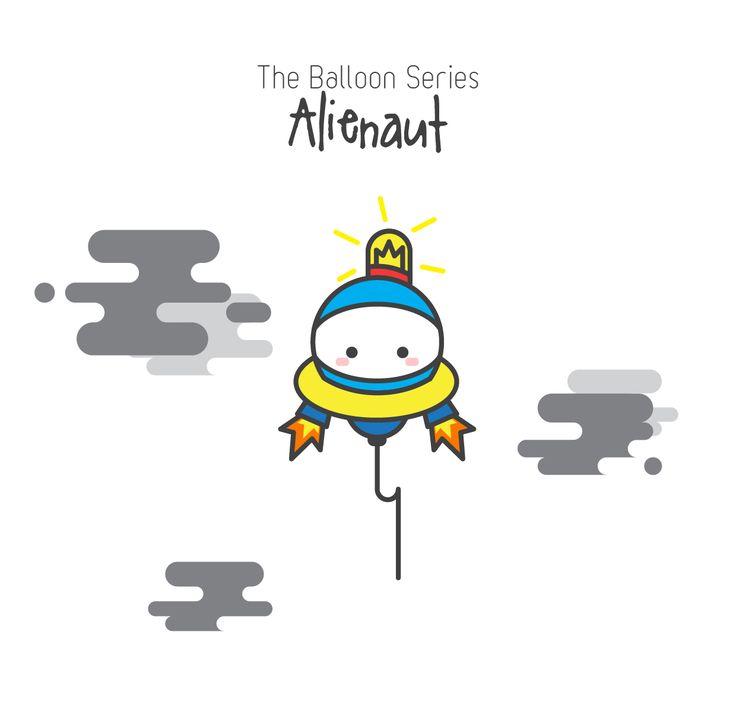 The Balloon Series - Alienaut (Character Design)