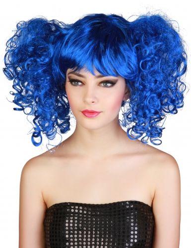 Peluca azul con coletas mujer Peluca Azul ea29e0206d7c