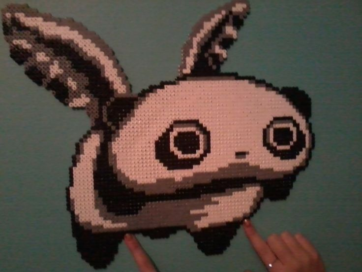 Flying Tare Panda - Hama Beads (special thanks to emilie for holding it against the wall)