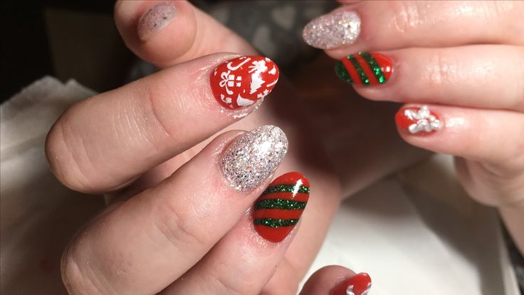 # Christmas nails # acrylic nails