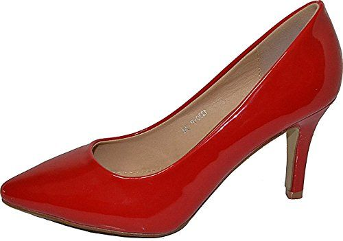 Damen Pumps Spitze Pastell High Heels Schuhe Lack Glitzer Elegant Peep-Toes Hochzeit Größe 36, Farbe Rot - http://on-line-kaufen.de/elara/36-eu-damen-pumps-spitze-high-heels-stiletto-lack