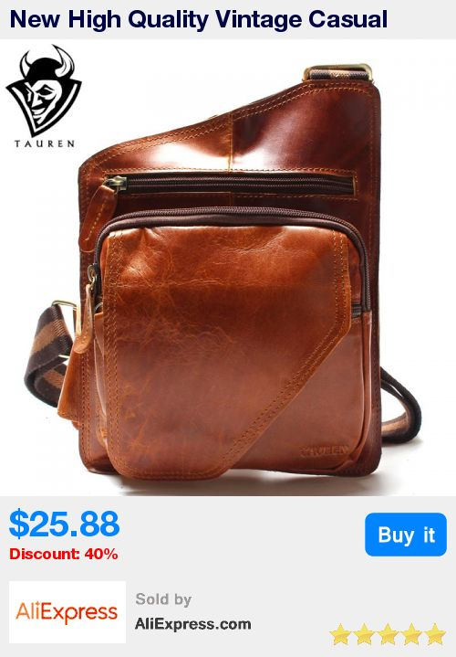 New High Quality Vintage Casual Crazy Horse Leather Genuine Cowhide Men Chest Bag Small Messenger Bags For Man * Pub Date: 18:41 Apr 15 2017