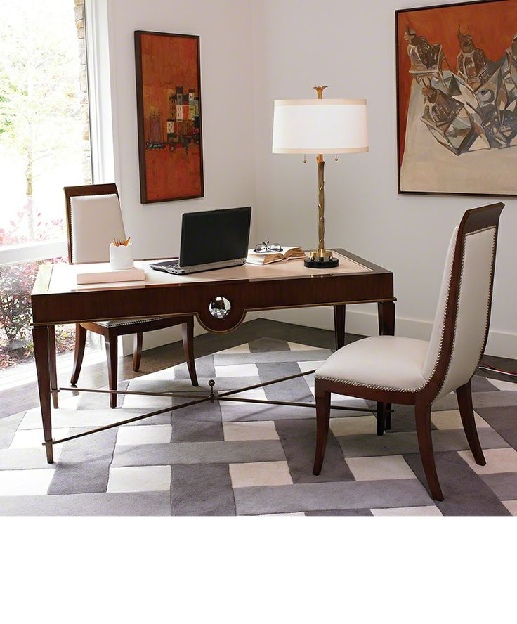 Global Views Home Office Sunrise Writing Desk Walnut 2456 At Noel Furniture In Houston TX