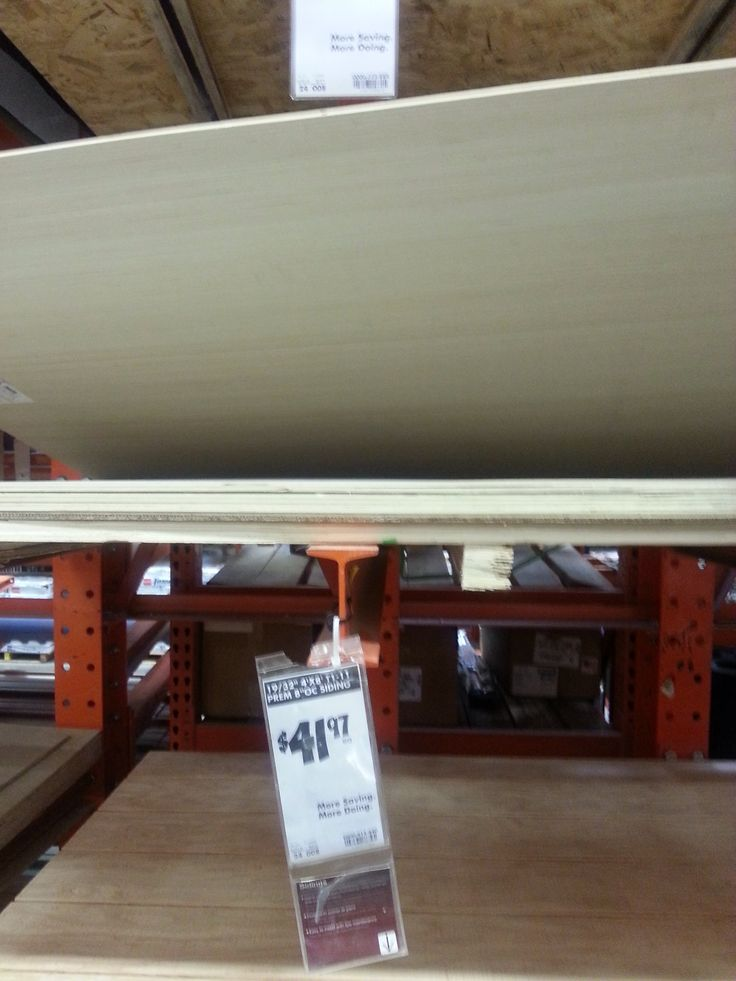 Prettier thin plywood (price not shown) 4'x8' sheets