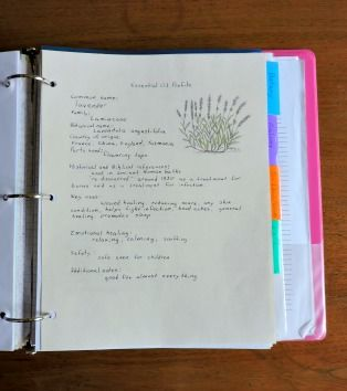 How to make an essential oil journal or notebook