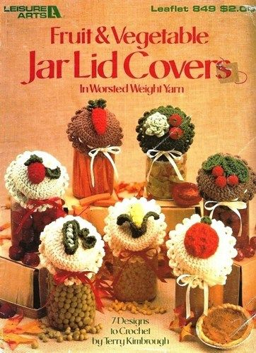 ... about Jar Lid Covers on Pinterest Jars, Cupcake jar and Crochet