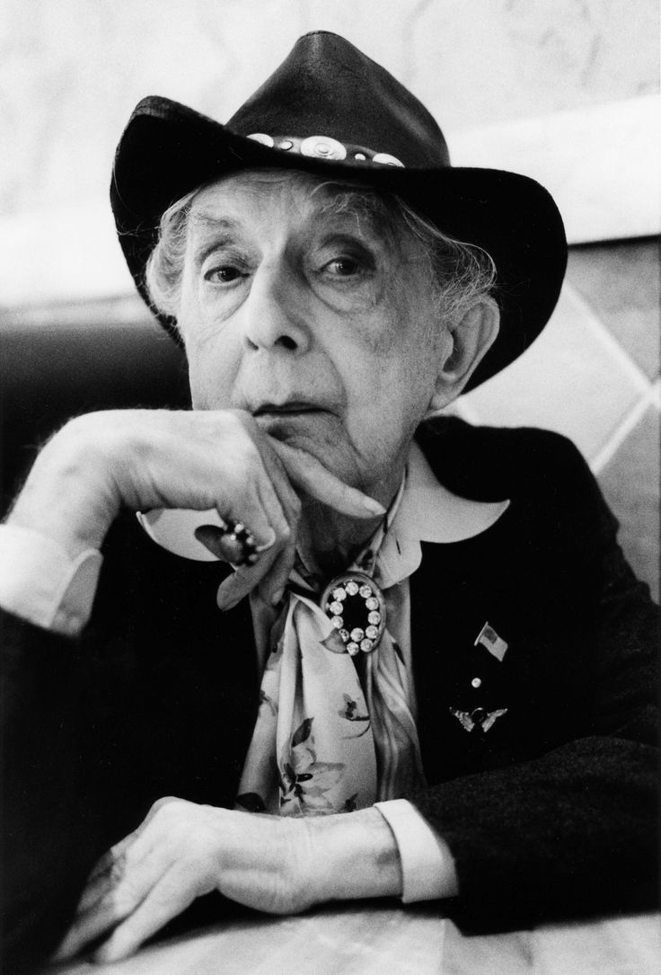 Quentin Crisp (English writer, raconteur, & critic. Openly homosexual, cross-dresser, gained notoriety for his flamboyant stage persona, razor-sharp wit, & deadpan social humor. His autobiography was a bestseller). See: The Naked Civil Servant