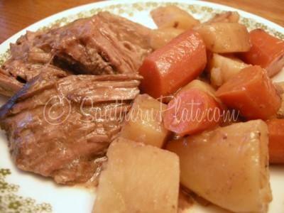 Always Tender Roast and Veggies in the slow cooker (crock pot)