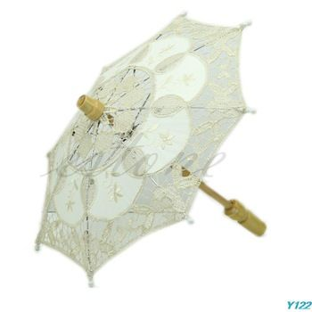 Free shipping  New Embroidered Lace Parasol Umbrella For Bridal Wedding Party Decoration-Y122