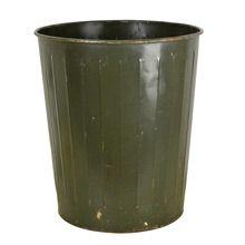 Dark Green Industrial Waste Paper Basket by Witt c1940s | Restored Lighting, Antiques & Vintage Finds from Rejuvenation