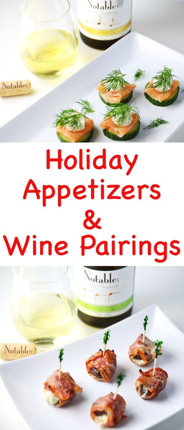 Msg 4 21 + Holiday Appetizers and Wine Pairings - Cucumber Dill Smoked Salmon Bites and Prosciutto Wrapped Figs paired with Notable Chardonnay is the perfect pairing! #ad #Chardonnation #NotableHoliday {wine glass writer}