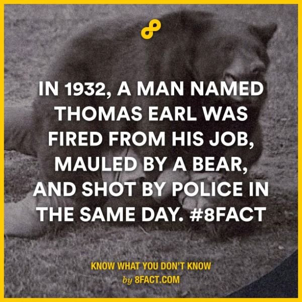 In 1932 a man named Thomas Earl was fired from his job, mauled by a