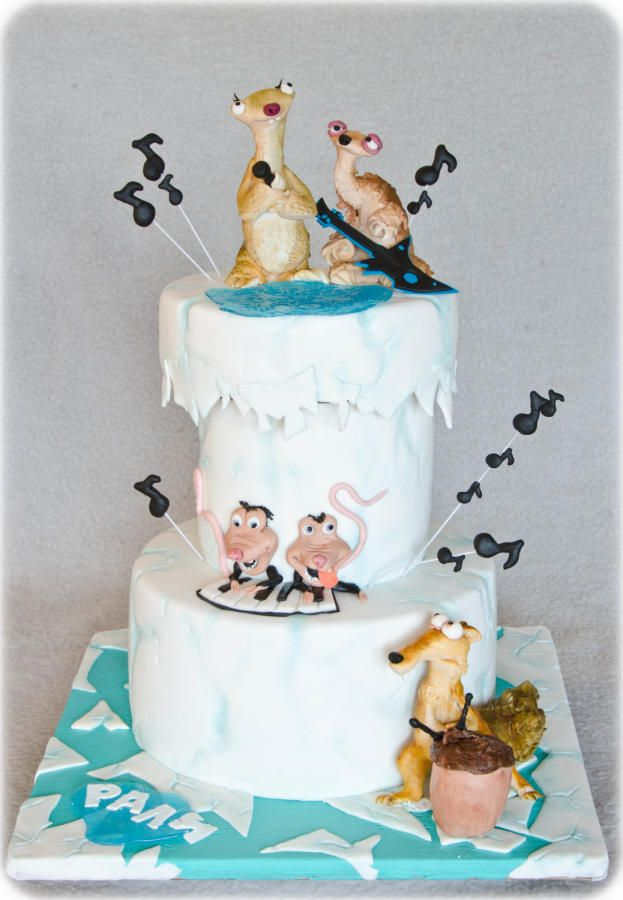 25 Best Ice Age Cakes And Treats Images On Pinterest Ice Age Cake