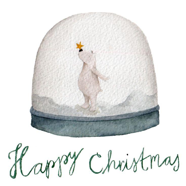 Lot de 4 cartes de Noël. Ours polaire, bulletins d'enneigement illustration du globe, des animaux, des bois, hiver par Linamakes sur Etsy https://www.etsy.com/fr/listing/212567740/lot-de-4-cartes-de-noel-ours-polaire