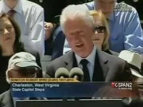 Bill Clinton: Byrd Only Joined KKK To Get Elected ____ Witness impeached American president William Jefferson Clinton justifying his friend's KKK membership.
