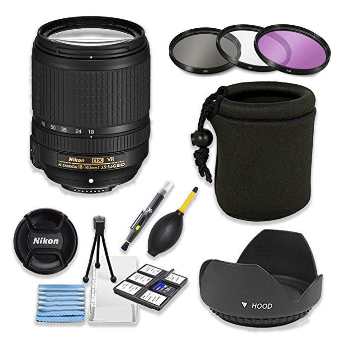 Nikon Af S Dx Nikkor 18 140mm F 3 5 5 6g Ed Vr Lens Bundle With Professional Hd Filters Lens Hood Lens Case 5 Piece Lens Start Lens Hood Vr Lens Starter Kit