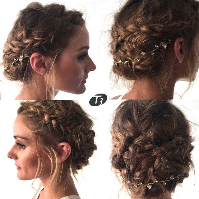 A braided, bohemian up-do on Olivia Palermo. Created using the T3 Micro PROi professional hair dryer.