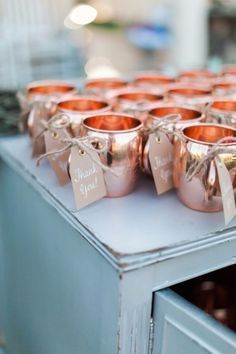 DIY Wedding Favors - DIY Copper Mug Favors - Do It Yourself Ideas for Brides and Best Wedding Favor Ideas for Weddings - Step by Step Tutorials for Making Mason Jars, Rustic Crafts, Flowers, Small Gifts, Modern Decor, Vintage and Cheap Ideas for Couples on A Budget Outdoor and Indoor Weddings http://diyjoy.com/diy-wedding-favors #modernvintageweddingdecorations #budgetwedding #weddingfavors #weddingdecorations