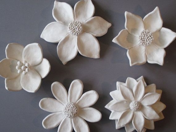 Ceramic Flower Garden Wall Hanging, ceramic wildflower, blackberry, c ...