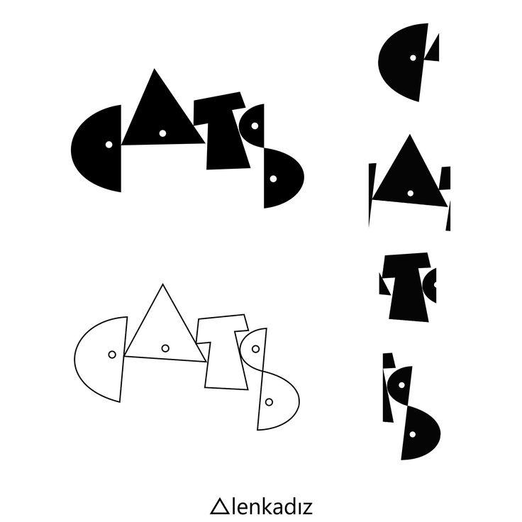 """Фирменный шрифт для плаката - мюзикл """"Сats"""""""
