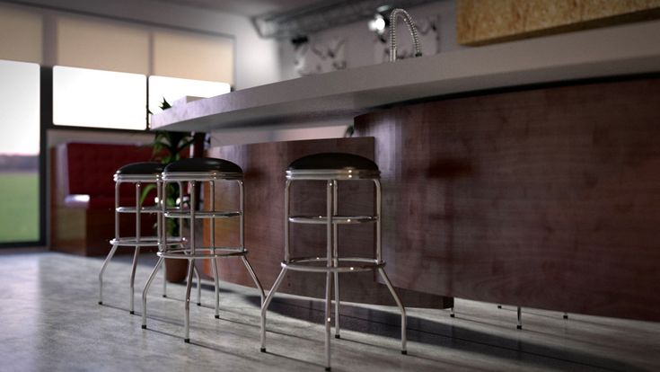 3D Kitchen Visualisation for NineDesign in Bude, Cornwall