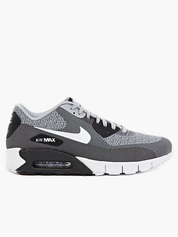 Nike Men's Grey Air Max 90 Jacquard Sneakers | oki-ni