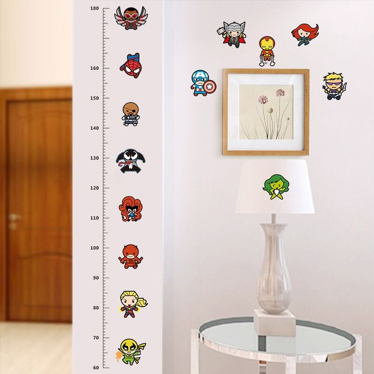 Spiderman Avengers Growth Chart Wall Sticker //Price: $6.35 & FREE Shipping //     #DIY