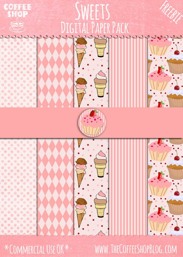 "The CoffeeShop Blog: CoffeeShop ""Treats"" Digital Paper Pack! (Download: 2,7 MB) 2014-07-08"
