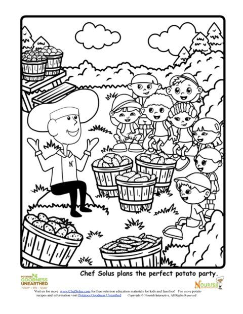 Nutrition Coloring Pages For Children