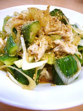 やみつき☆豚しゃぶと叩き胡瓜の中華サラダ