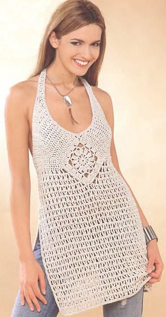 MADE TO ORDER  a crochet spring/summer/fall tunic by AsDidy, $108.00