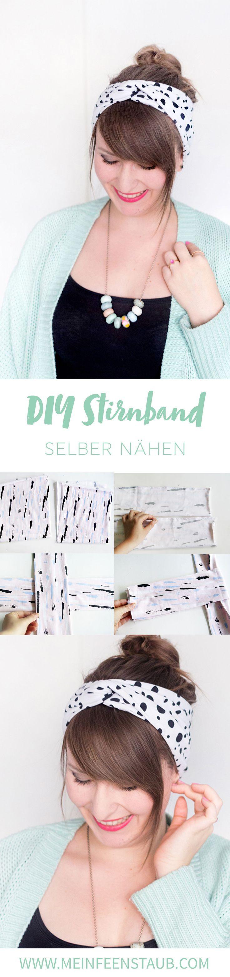 Kreative DIY Idee zum Selbermachen Einfaches Turban Stirnband oder Turban Haarband nähen